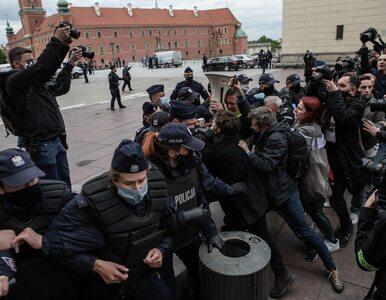 Przedsiębiorca zmarł po proteście w Warszawie? Policja dementuje