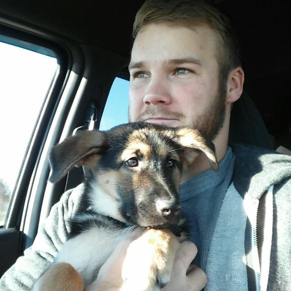 Austin Conway i jego pies