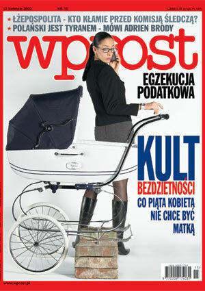 Okładka tygodnika Wprost nr 15/2003 (1063)
