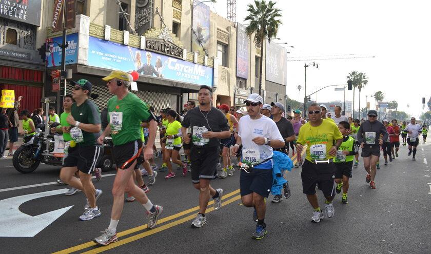 Uczestnicy Maratonu Los Angeles z 2013 roku