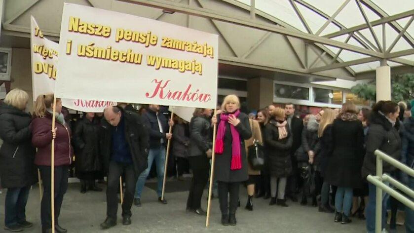 Protest pracowników sądowych