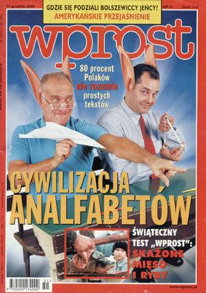 Okładka tygodnika Wprost nr 51/2000 (942)