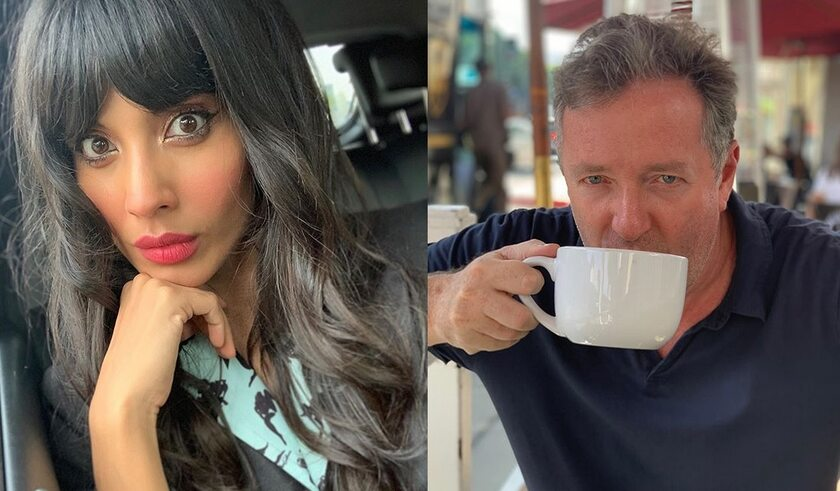 Jameela Jamil, Piers Morgan