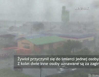 Nad Japonię dotarł tajfun Phanfone. Jedna osoba nie żyje