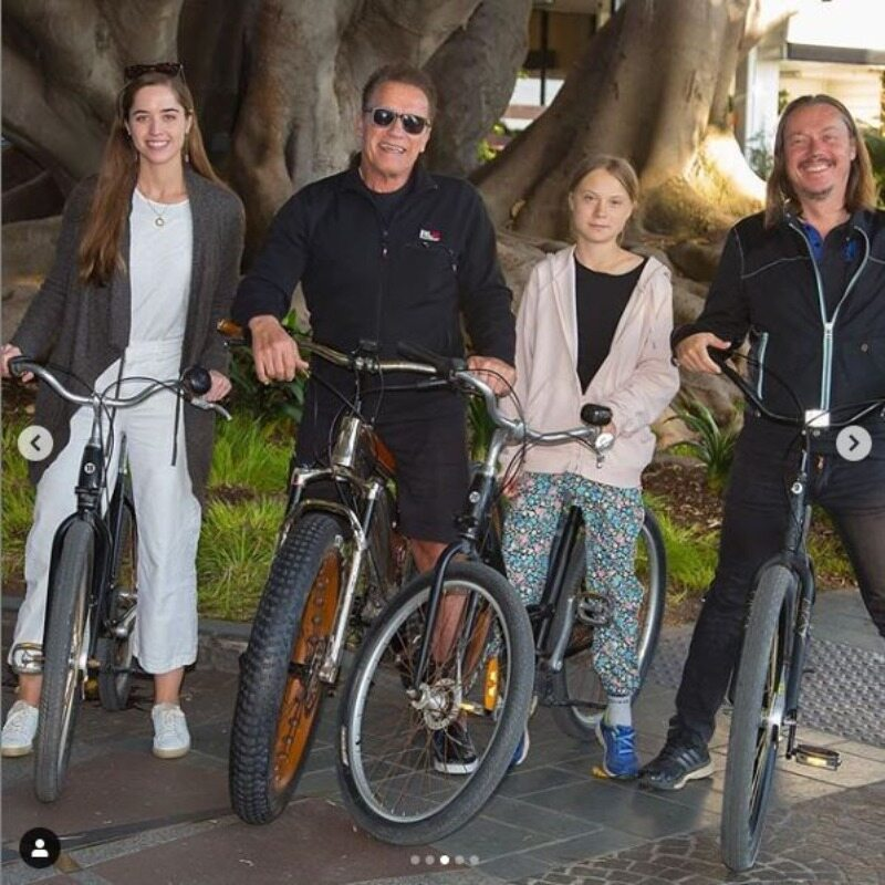 Arnold Schwarzenegger i Greta Thunberg