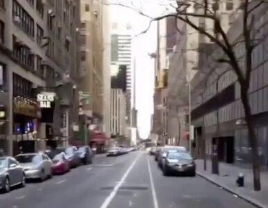 Miasto, które nigdy nie śpi, zasnęło. Tak wyglądają ulice Manhattanu