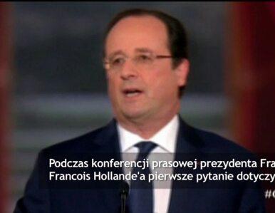 Hollande odmawia odpowiedzi na pytanie o romans z aktorką