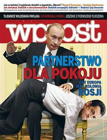 Okładka tygodnika Wprost nr 37/2008 (1342)