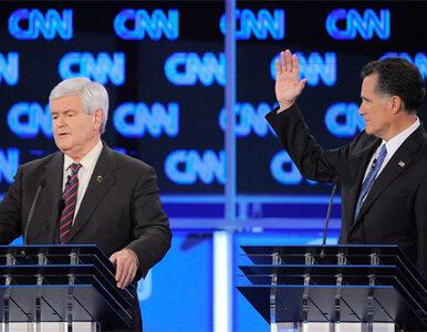 Ostre starcie Romneya z Gingrichem