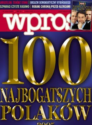 Okładka tygodnika Wprost nr 19/2005 (1171)