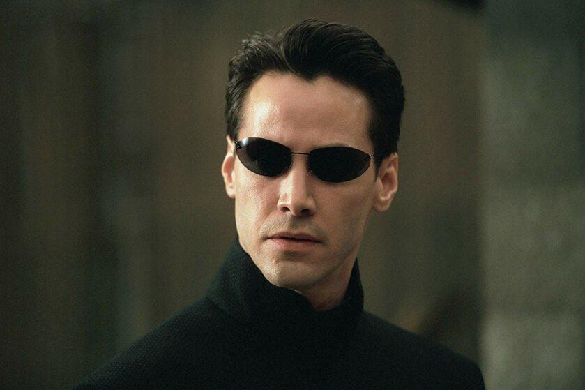 """Keanu Reeves w filmie """"Matrix reaktywacja"""" (2003)"""