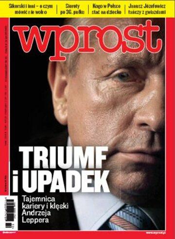 Okładka tygodnika WPROST: 32/2011