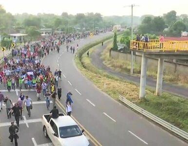 Migranci zmierzają do USA. Karawana ma już 1,5 km długości