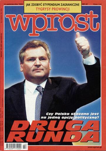 Okładka tygodnika Wprost nr 42/2000 (933)