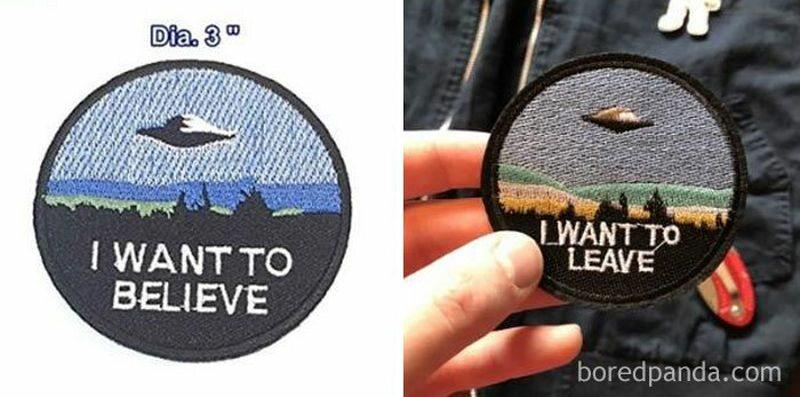 Zdjęcie reklamowanego towaru vs. rzeczywistość