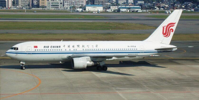 Samolot Air China, zdjęcie ilustracyjne