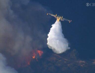 Kalifornia: Śmigłowce i samoloty walczą z ogniem