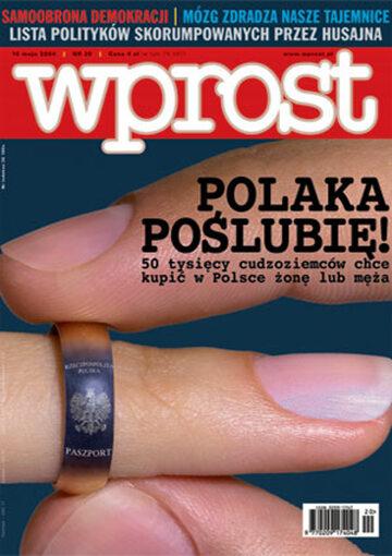 Okładka tygodnika Wprost nr 20/2004 (1120)