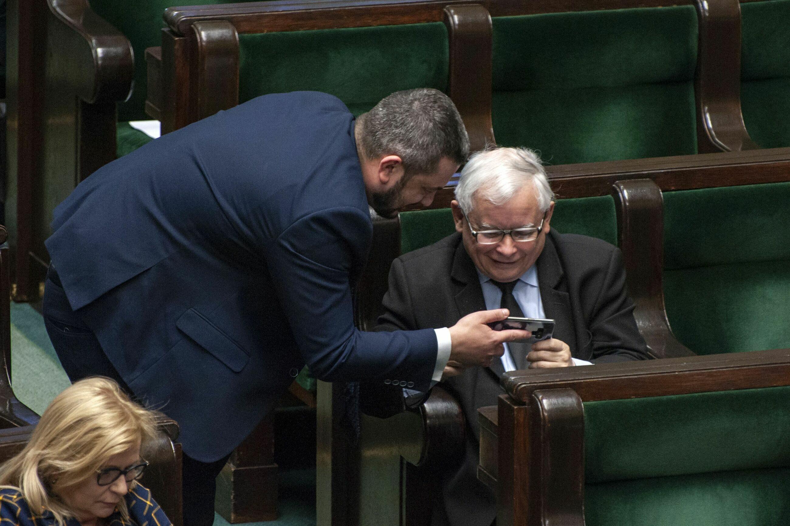 Krzysztof Sobolewski i Jarosław Kaczyński