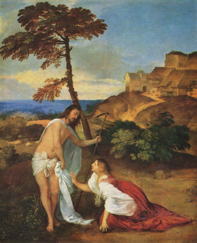 Jezus i Maria Magdalena Tycjana