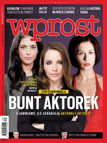 Okładka tygodnika Wprost nr 34/2017 (1799)