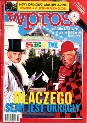 Okładka tygodnika Wprost nr 46/2001 (990)