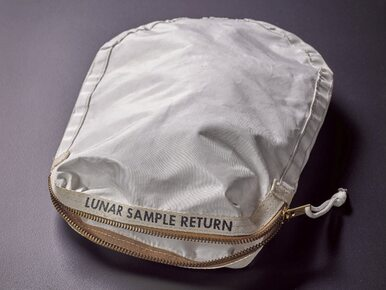 Księżycowa torba na sprzedaż. Armstrong zbierał do niej próbki w 1969 roku
