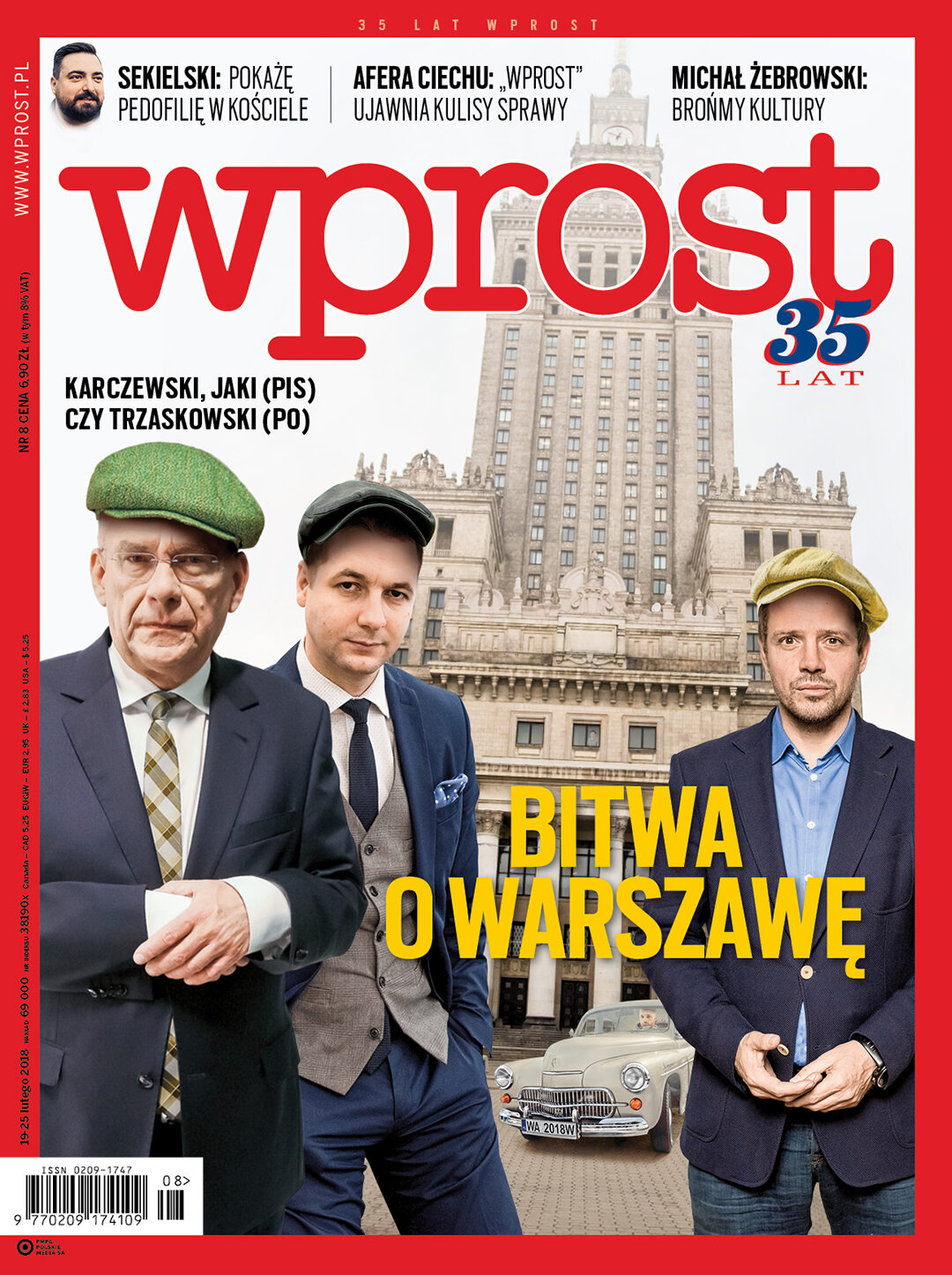 Okładka tygodnika Wprost nr 8/2018 (1824)