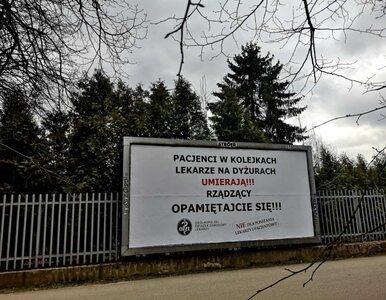 """""""Umierający pacjenci i lekarze"""" trafili na billboardy. OZZL zaprasza na..."""