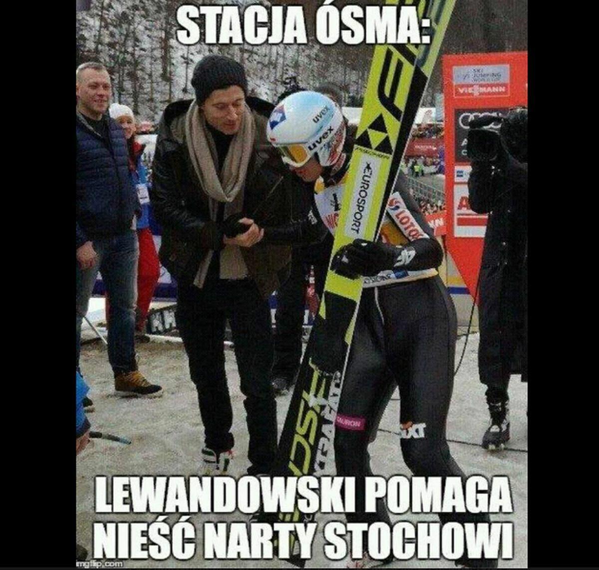 Lewandowski skradł show podczas lotów w Oberstdorfie