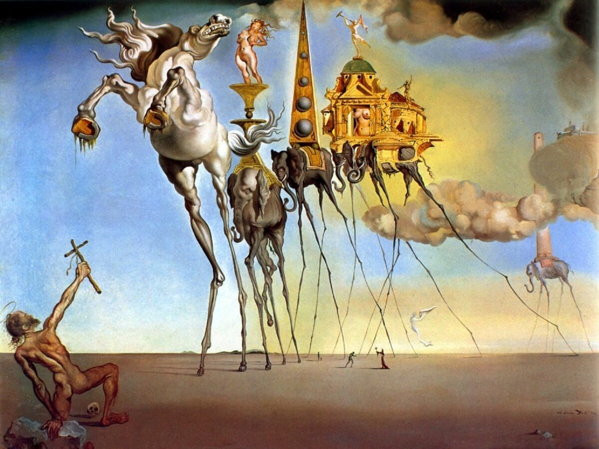 "Salvador Dali ""The Temptation of St. Anthony"" 1946 r."