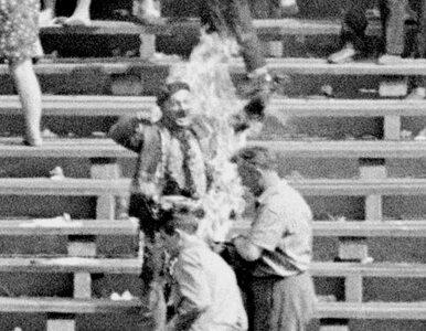 W proteście podpalił się na Stadionie 10-lecia