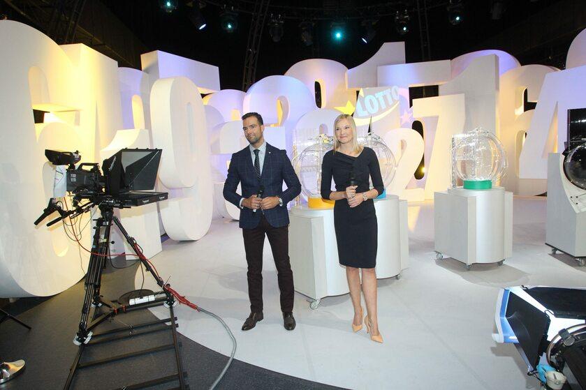 Conrado Moreno i Agata Jasińska - prezenterzy Studia Lotto