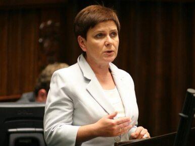 """Szydło kandydatem na premiera? """"Polacy nie dadzą się nabrać na ograny..."""