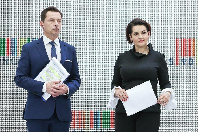 Krzysztof Ziemiec i Edyta Lewandowska