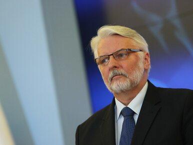 Waszczykowski o Tusku: Nie zgłosił Polsce ponownej kandydatury na szefa RE