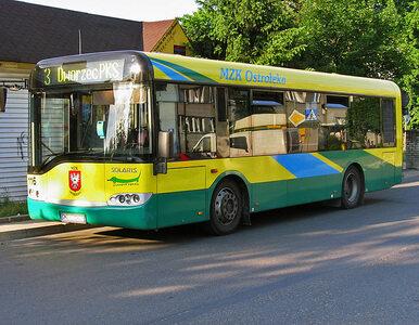 Ostrołęka. Pijany 29-latek ukradł autobus i ruszył w podróż