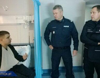 Komendant Główny Policji odwiedził rannych policjantów w szpitalu