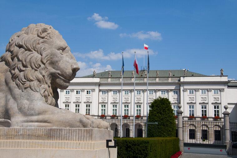 Widok na Pałac Prezydencki w Warszawie