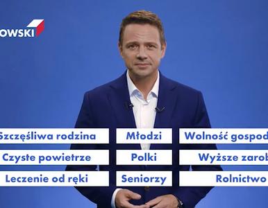 Trzaskowski pokazał interaktywny spot. Wyborca sam może wybrać hasła