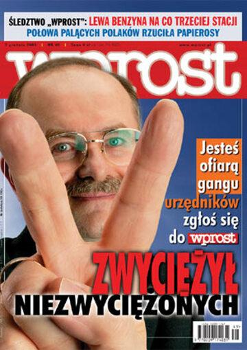 Okładka tygodnika Wprost nr 49/2003 (1097)