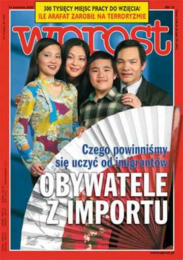 Okładka tygodnika Wprost nr 15/2002 (1011)