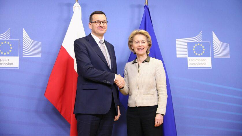 Spotkanie premiera  Morawieckiego z przewodniczącą KE Ursulą von der Leyen