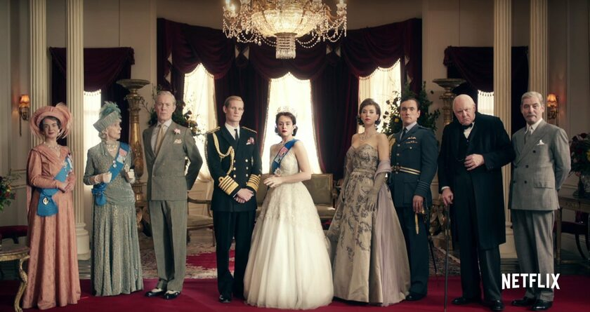 "kadr z serialu ""The Crown"" (2016)"